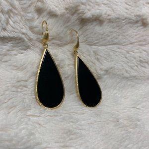 Rivka Friedman Onyx Teardrop Satin Earrings